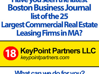 KPP Ranks 18th in Boston Business Journal Largest Commercial Real Estate Leasing Firms List