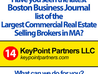 KPP Ranks 14th in Boston Business Journal Largest Commercial Real Estate Selling Brokers List