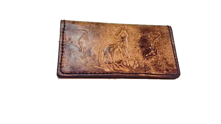 Custom Leather Checkbook