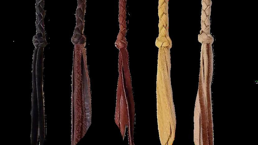 Braided Leather keychains
