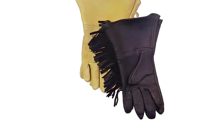 Cowhide Leather Gauntlet Gloves