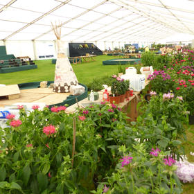 RHS Tatton. Everything unloaded and ready to stage.