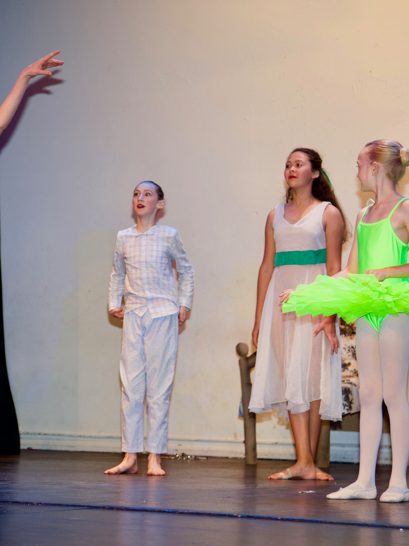 Young actors and dancers on stage in Tenterden