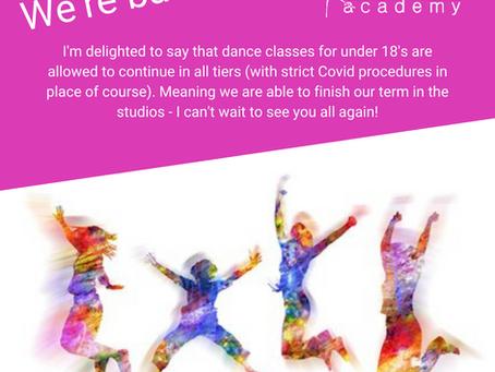 Dance classes in Tenterden to resume again
