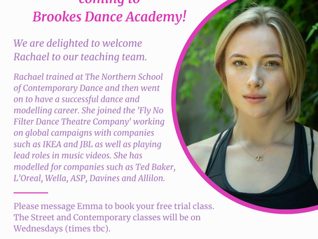 Street Dance and Contemporary Dance Classes coming to Brookes Dance Academy, Tenterden!