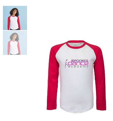 Long sleeved T shirt for Brookes Dance Academy