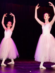 Ballet dancers on stage at The Sinden Theatre, Tenterden