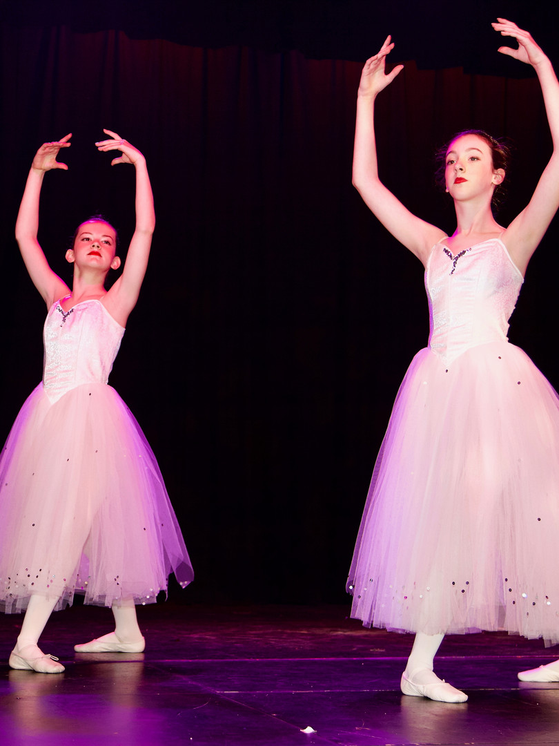 Ballet dancers on stage at The Sinden Theatre, Tenterden