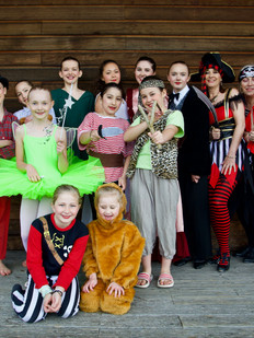 Adult Tap dancers and children in our dance show, Tenterden