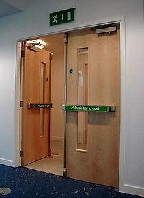 Example of a Double Wooden Fire Door