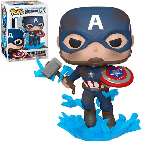 FUNKO POP MARVEL AVENGERS ENDGAME - CAPTAIN AMERICA (WITH MJOLNIR) 573