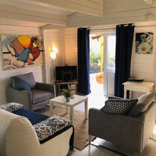 sala de estar casa madeira