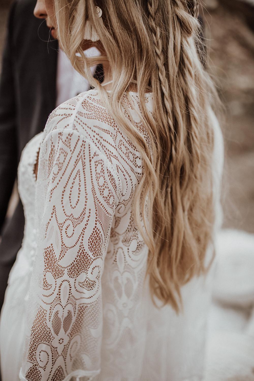 Haare der Braut