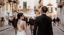 Hochzeits-Inspiration mit Modernem und italienischem Flair | Urban und Chic | Brautmode | Brautkleid