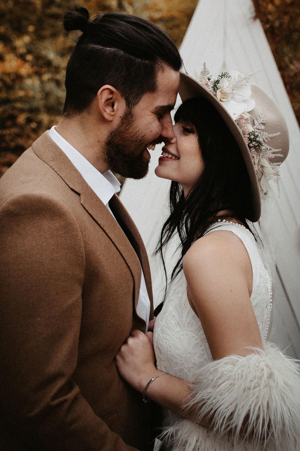 Inspiration für eine moderne Hochzeit im Boho Stil - naturverbunden, mit vielen tollen Deko Ideen fü