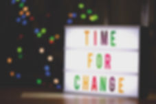 Canva - Time for Change Sign With Led Li