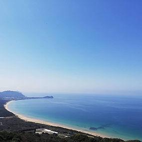 友だちが撮ってくれた糸島の海岸線!めちゃ透明度高くてキレイー* #糸島の海 #糸