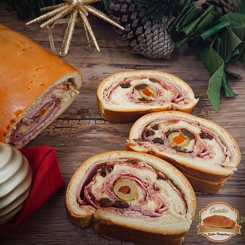 Baked Pan de Jamon - Christmas Roll