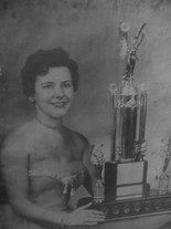Marion Corey in 1955 after winning the p