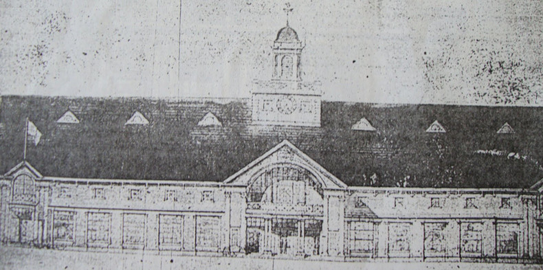Exhibition Building on Island Park in 19