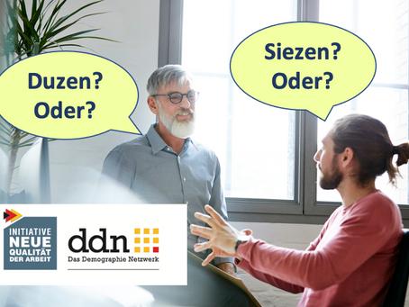"""""""Duzen oder Siezen? Hilft die Duz-Kultur der Arbeitgebermarke?"""""""