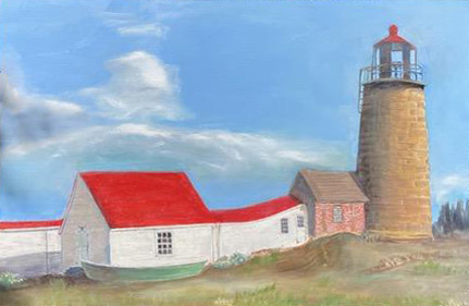 Monhegan Island Lighthouse Maine