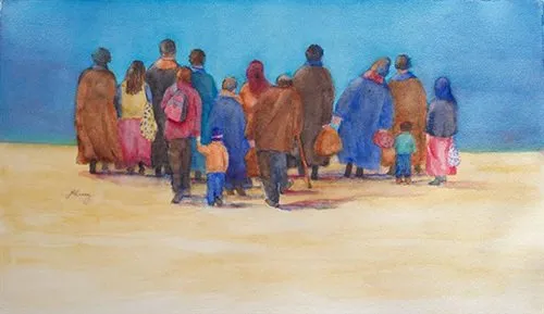 "Honorable Mention - ""The Walkers"" by Janice Atwood Ramey"