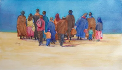 """Honorable Mention - """"The Walkers"""" by Janice Atwood Ramey"""