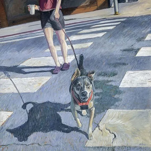 "Anita Wolff Award - ""Dog on Crosswalk"" by Kate Blue"