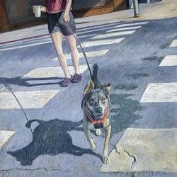 "Anita Wolff Award - ""Dog on Crosswalk"" by Kate Blue"