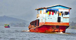 """Honorable Mention - """"Life on the Mekong"""" by Barbara Wells"""