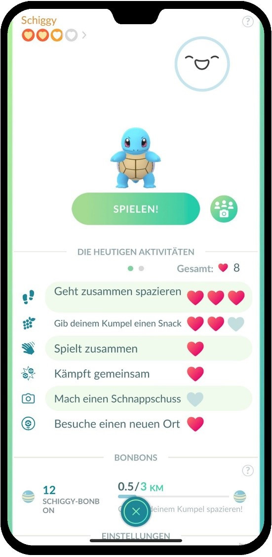 Pokémon GO - Kumpel Feature