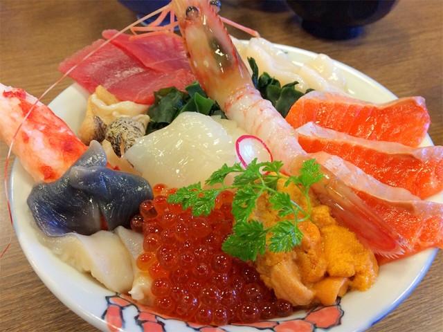 Kaisendon (Sushi Bowl) in Sapporo Hokkaido