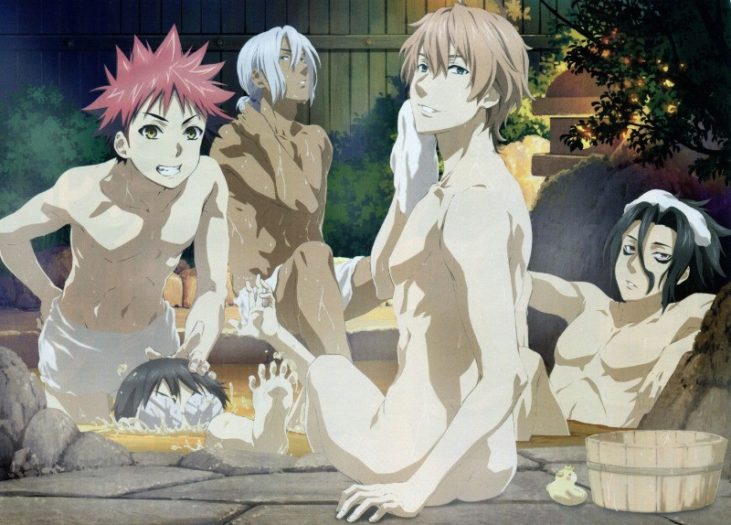 Anime Shokugeki no Soma im Onsen