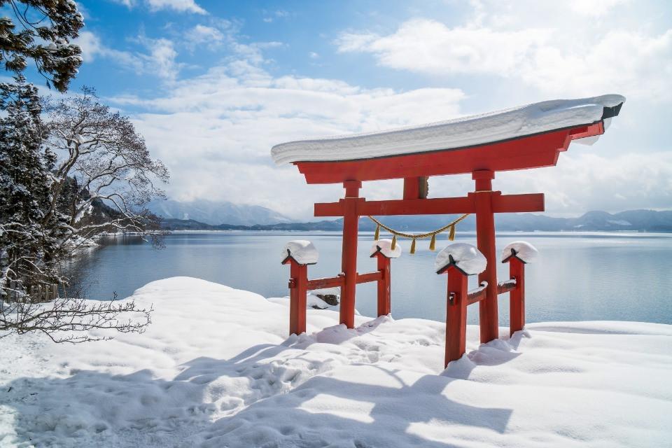 Tori-Bogen im Winter