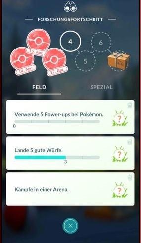 Pokémon GO - Feldforschung / Spezialforschung