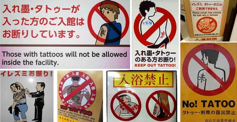 Im Onsen sind Tattoos oft verboten