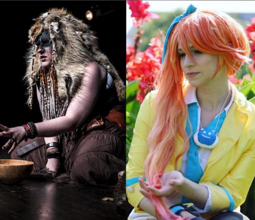 Ein LARP Kostüm und ein Cosplay