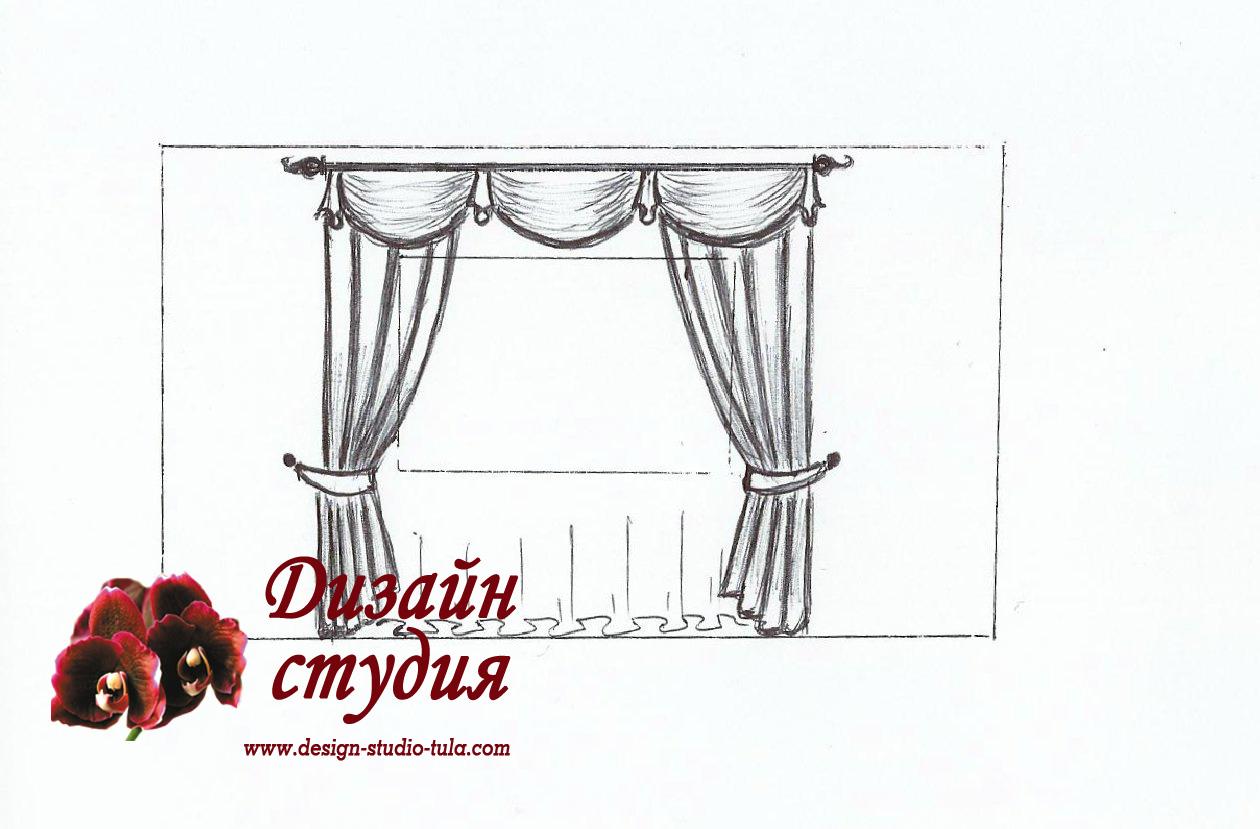шторы - сваг и кокелье