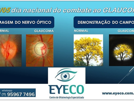 O GLAUCOMA É UMA DAS PRINCIPAIS CAUSAS DE CEGUEIRA NO MUNDO; PREVINA-SE!