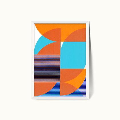 Tangram Slice X | Limited Edition Giclee Print | 50 x 70cm