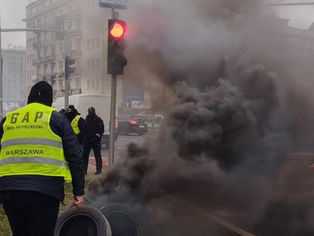Protest Taksówkarzy