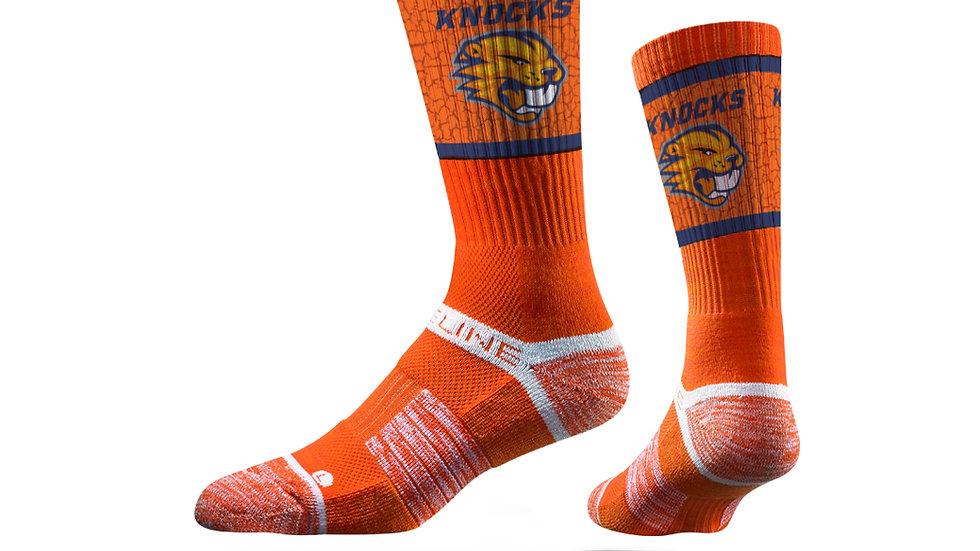 Knocks Beaver Socks by Strideline - Orange