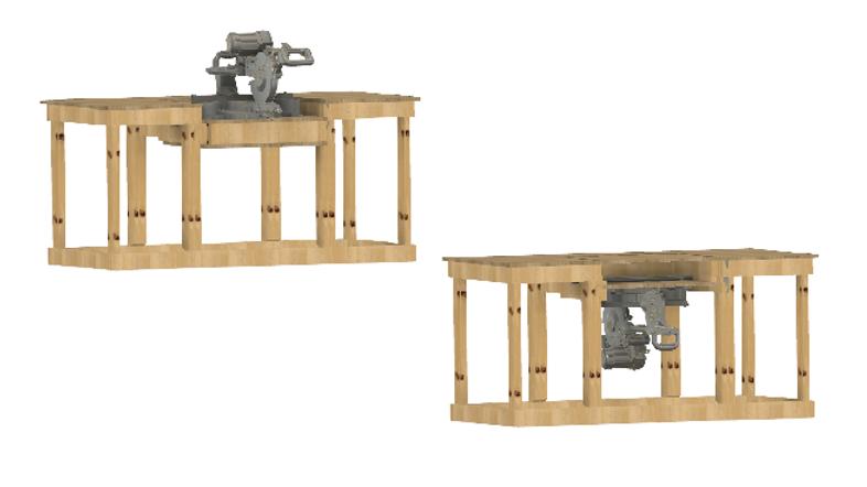 METRIC - Flip Top Miter Saw Station