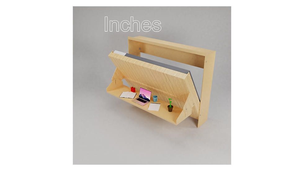 Inches - Double Mattress Bed Desk