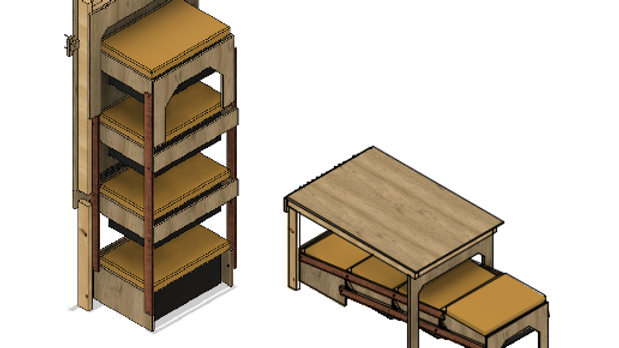 Foldable Work Bench w Shelves for the Bin Master