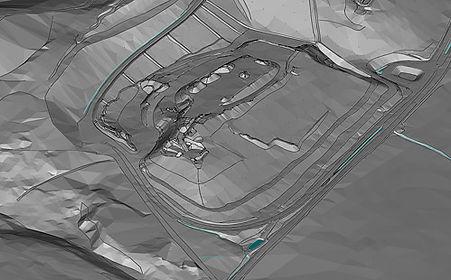 Digitales Geländemodell Deponien
