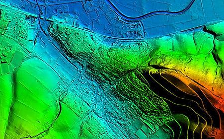 Digitalen Geländemodell farbcodiert