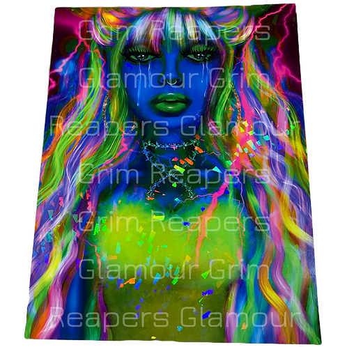 Electric Tears Glitter Poster Blue Edition