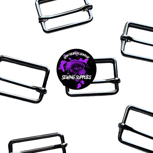 Pack of 6-Silver 1 inch Adjustable Sliders